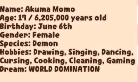 Akuma Momoのプロフィール